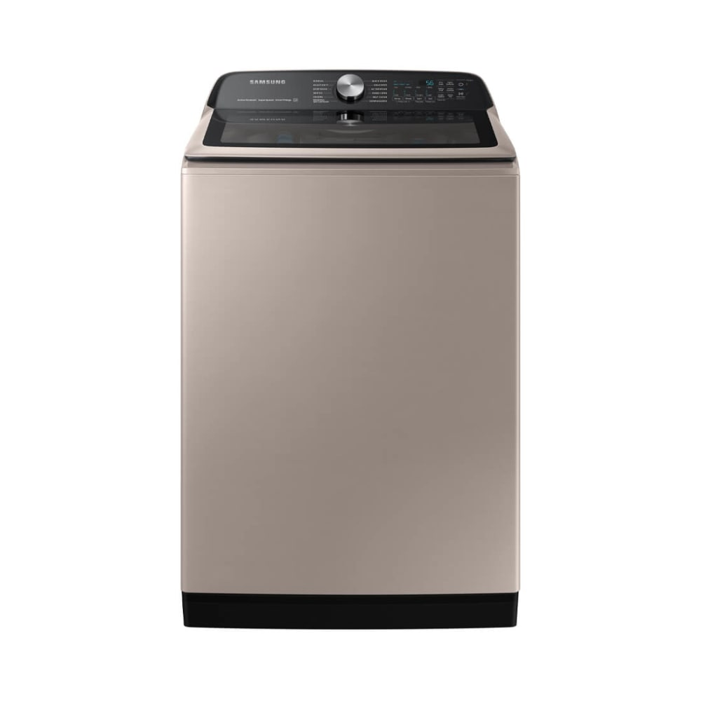 Samsung 5.2 cu. ft. Large Capacity Champagne Smart Top Load Washer