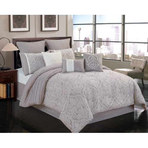 Warner 10 Piece Comforter Set - King (80708)