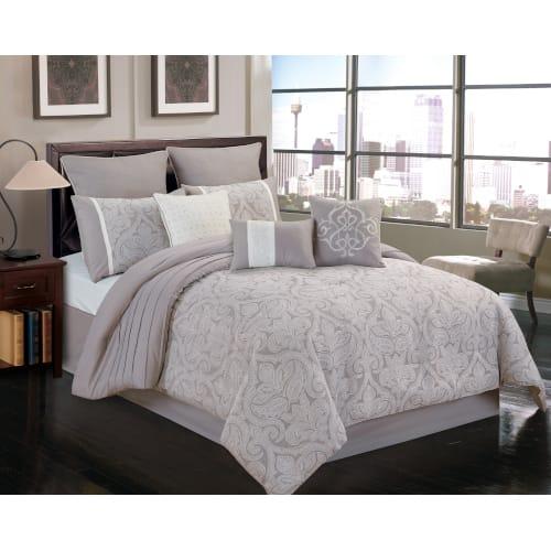 Warner 10 Piece Comforter Set - Queen (80709)