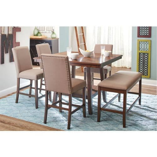 Portland 5pc Counter Dining Table 4 Chairs Height Furniture Conn S Homeplus - What Height Chairs For 36 Inch Table