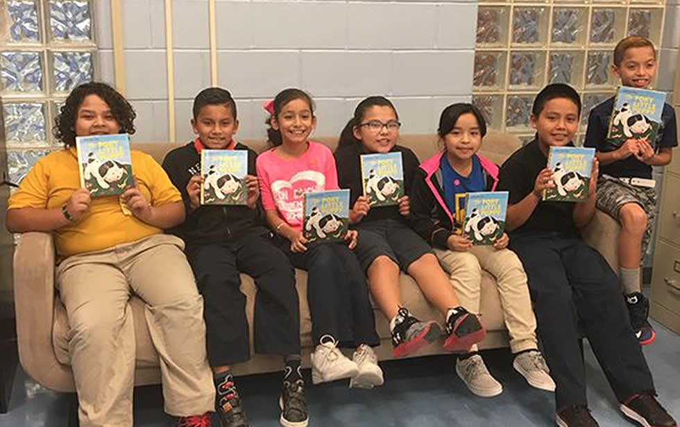 Conn's Cares brought literacy fun to Leon Daiches Elementary as a part of an effort to promote literacy among children within the communities Conn's HomePlus serves.