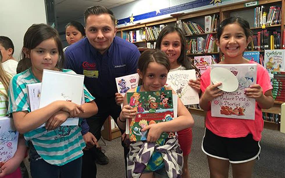 Alvarado Elementary School Reading Party with Conn's Cares, Conn's HomePlus.